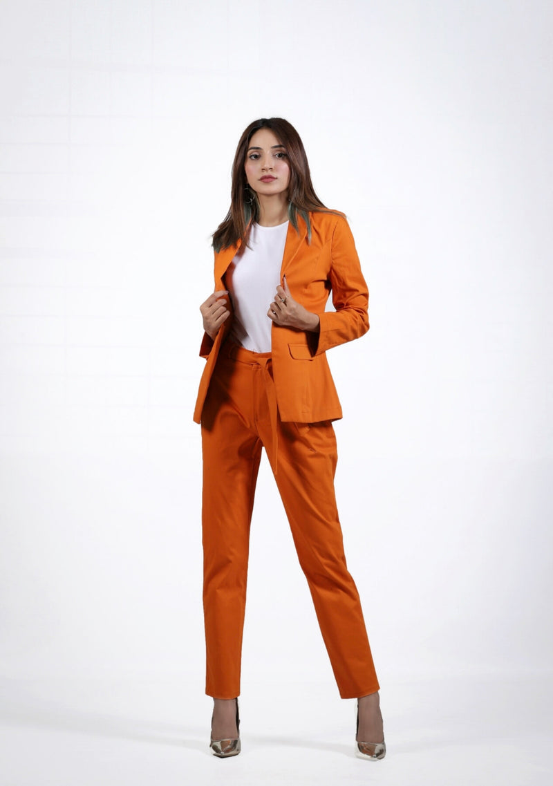 Straight Pant in orange