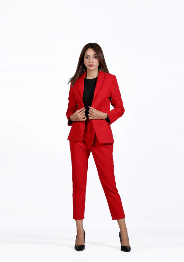Straight Pant in red