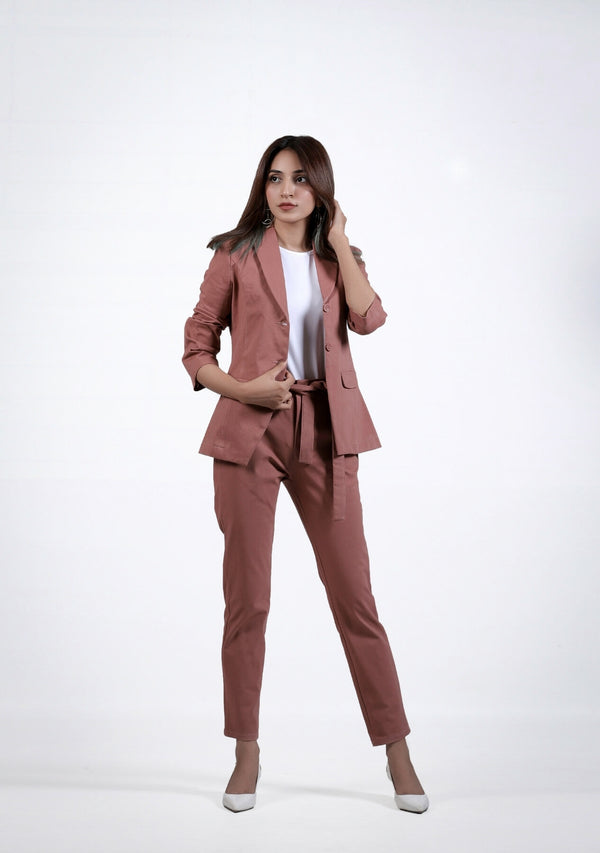 Straight Pant in tea pink