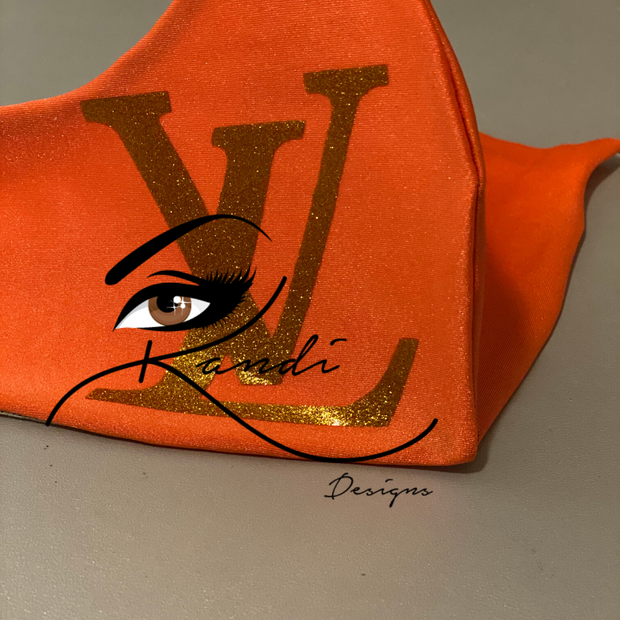 Designer Face Essentials (LV Orange - Gold Logo)