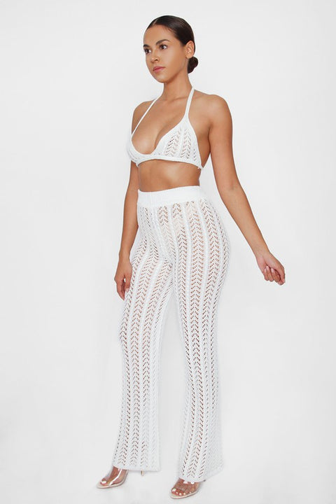 Breeze Through It Two Piece Swimsuit - White