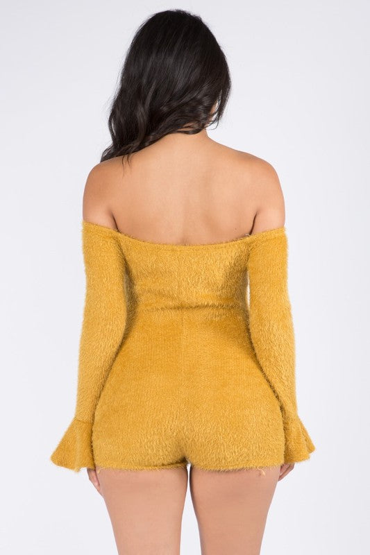 My Style Fuzzy Soft Romper