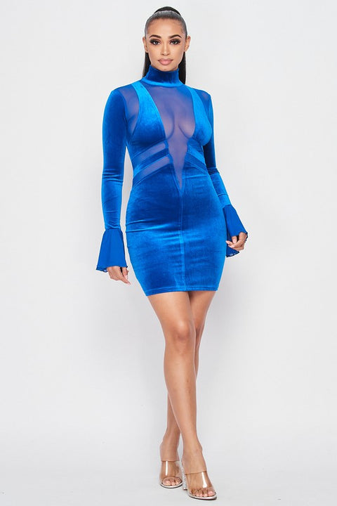 No Secrets Velvet Dress