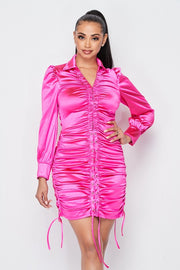 Sexual Healing Satin Runched Dress