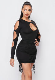 All In Good Timing Runched Dress