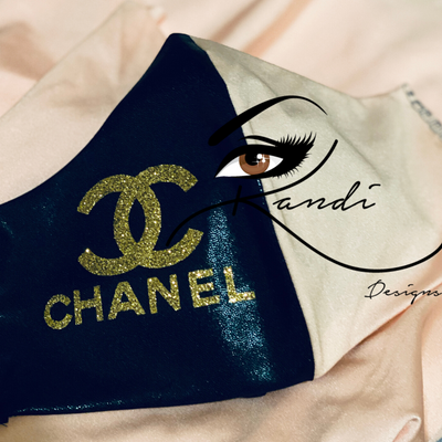 Designer Face Essentials (Chanel Black/Pink - Gold Logo)