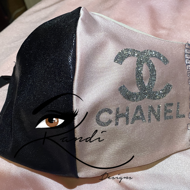 Designer Face Essentials (Chanel Black/Pink - Silver Logo)