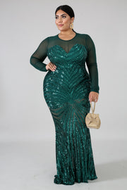 Her Sheer Dazzle Holiday Sequins Dress