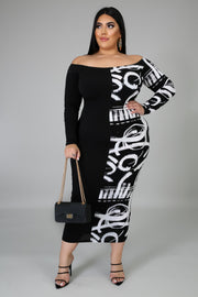 Attract the Opposite Maxi Dress