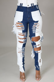Ice Cold Two Toned Denim Jeans