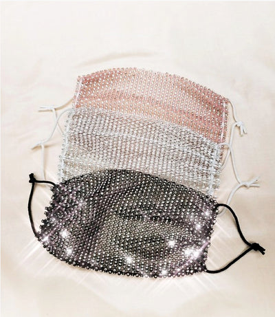 Sparkle Mesh Mask Cover Up