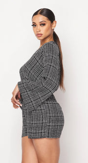 Made To Love Checker Woven Romper