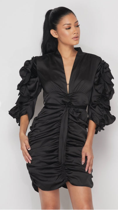 A Thousand Reasons Why Ruffle Satin Dres