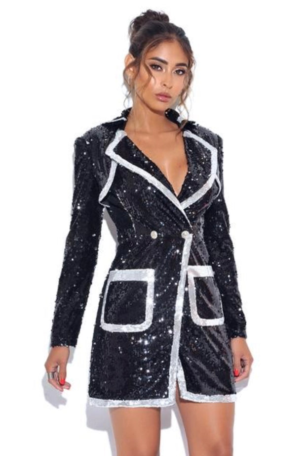 Fall In Line Sparkling Blazer