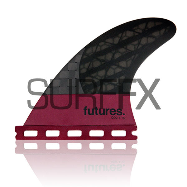 "Futures QD2 4.15"" Blackstix Rear Pair - SurfFX"