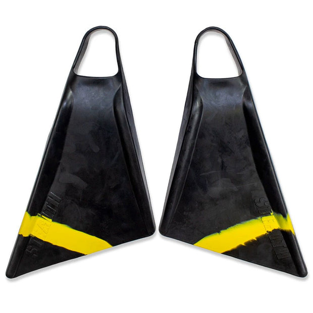 Stealth S2 Black Fluro Yellow Pinnacle Bodyboard Fins