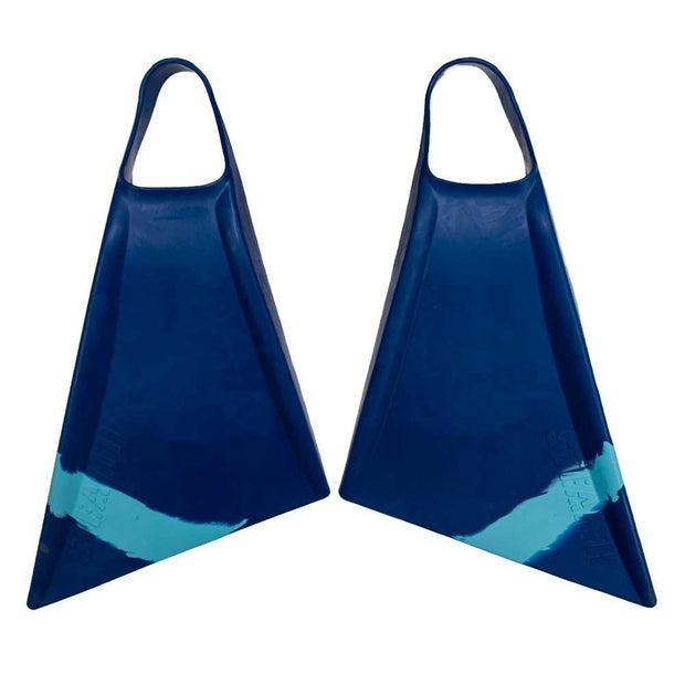 Stealth S2 Navy Ice Blue Pinnacle Bodyboard Fins