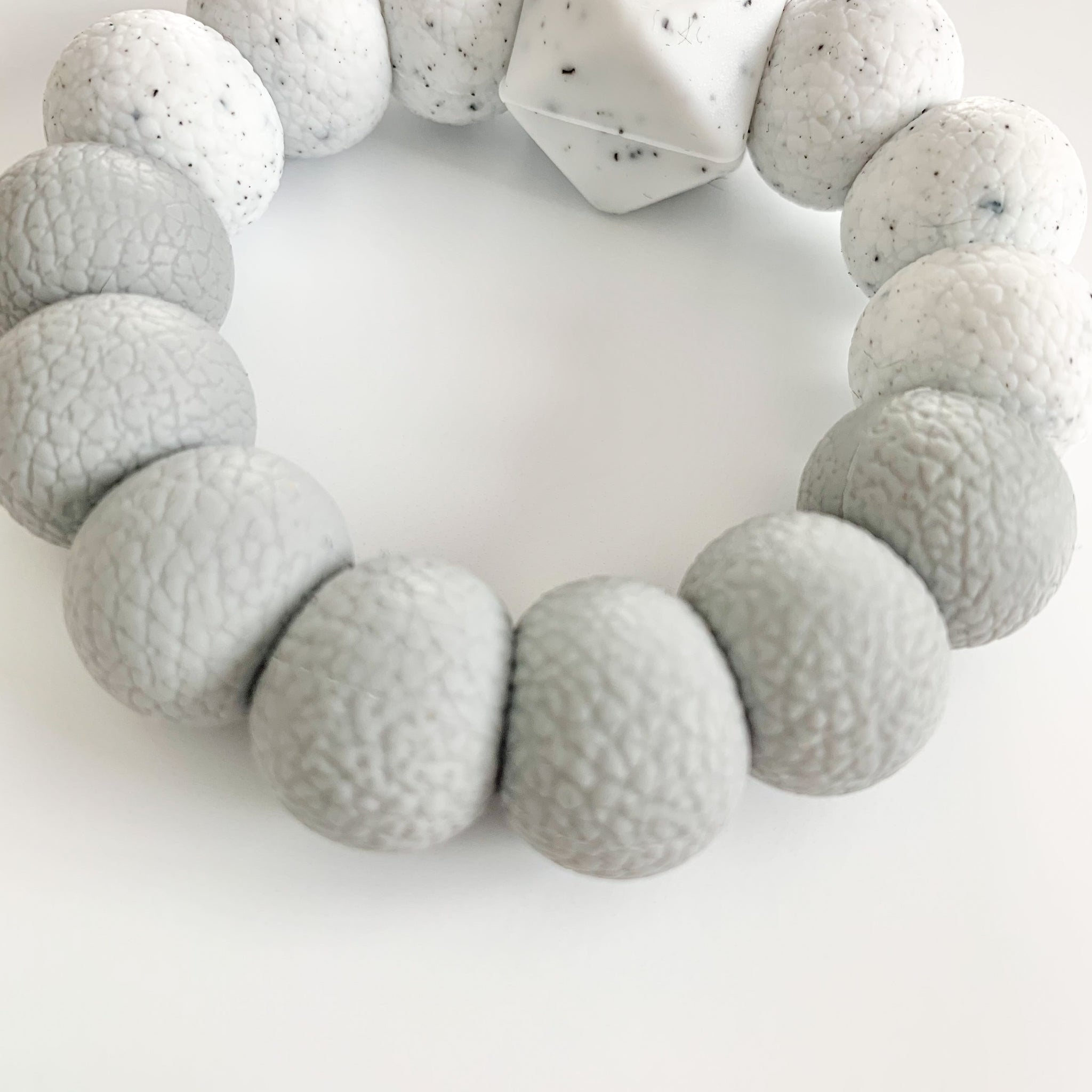 Light Gray *Textured* Freezer Teether