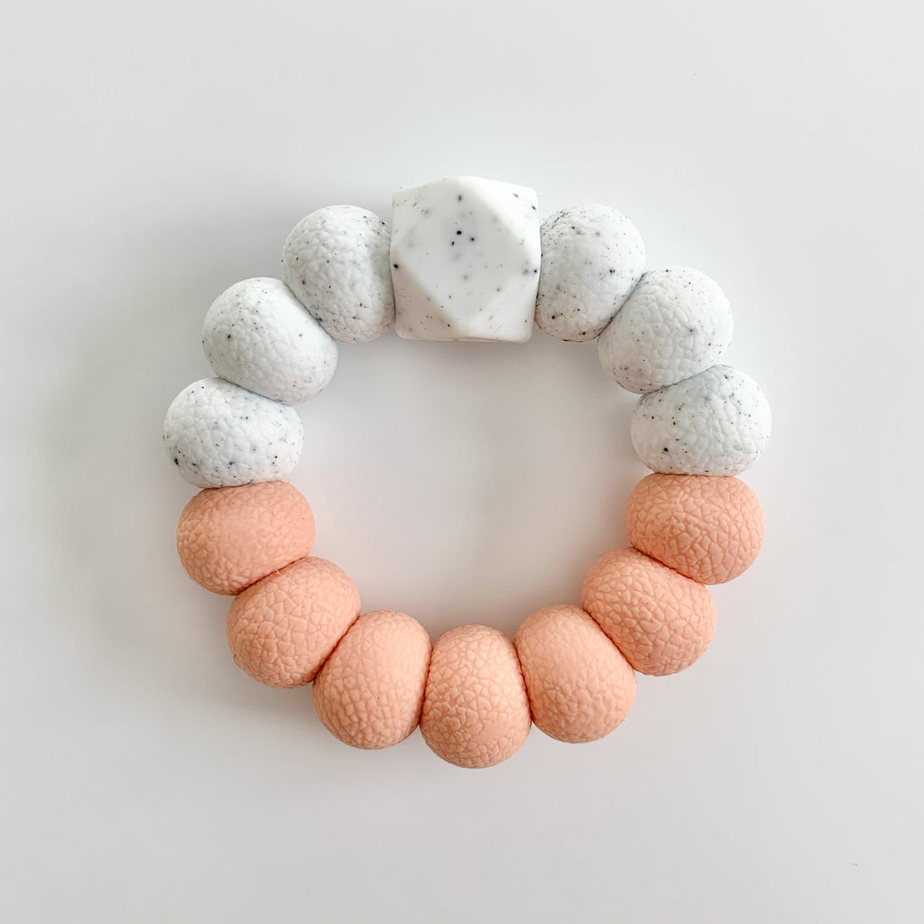 Peach *textured* Freezer Teether