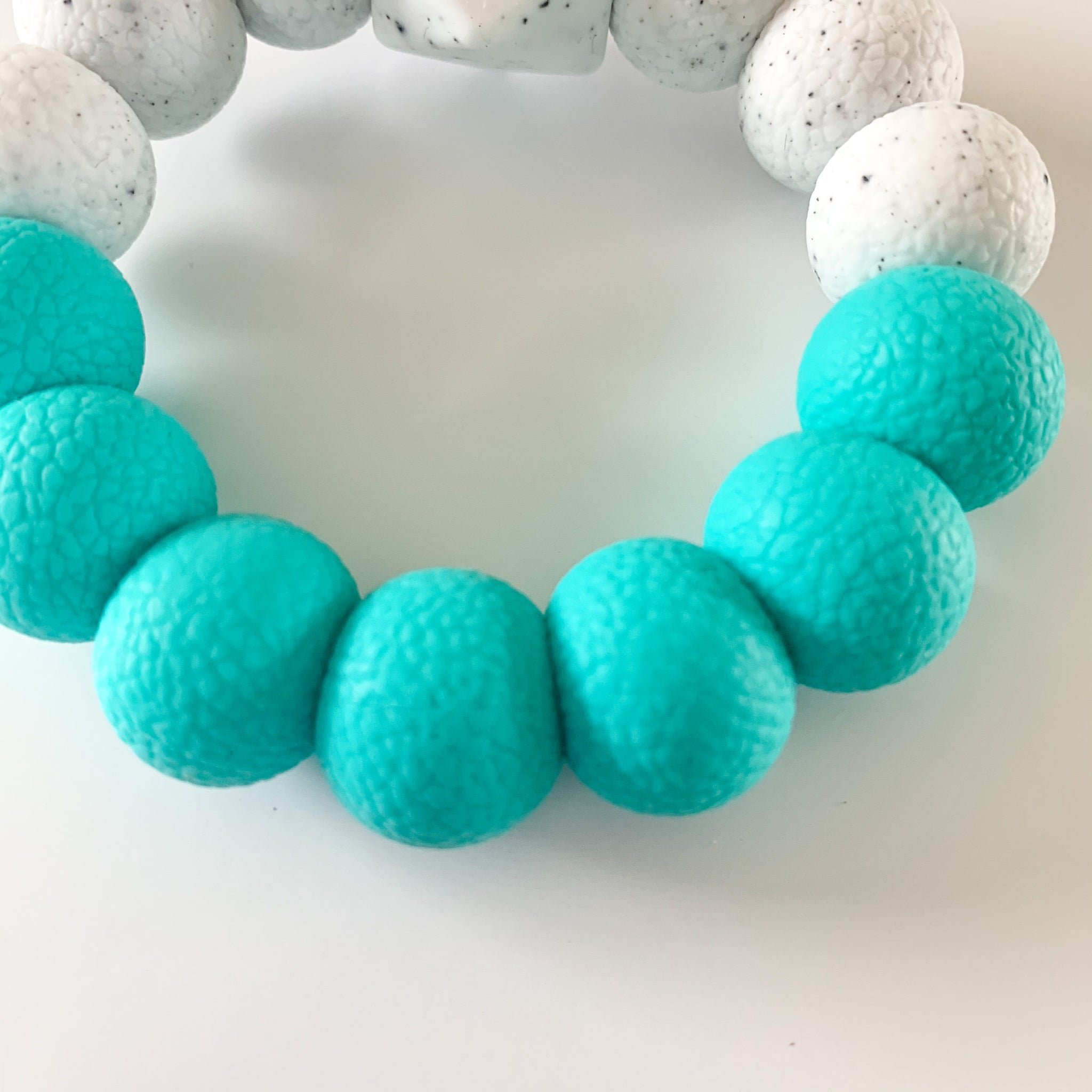 Turquoise *Textured* Freezer Teether