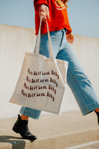 More self love, baby tote bag