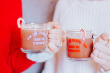 Load image into Gallery viewer, 'Tis the Season to Smash the Patriarchy 10 oz Glass Mug