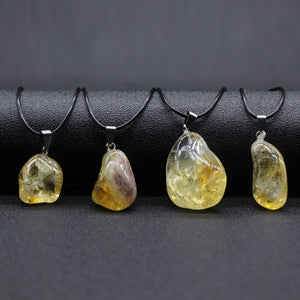 Natural Citrines Quartz Necklace