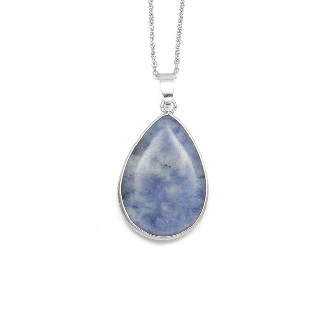 Water-drop Sodalite Pendant Necklace