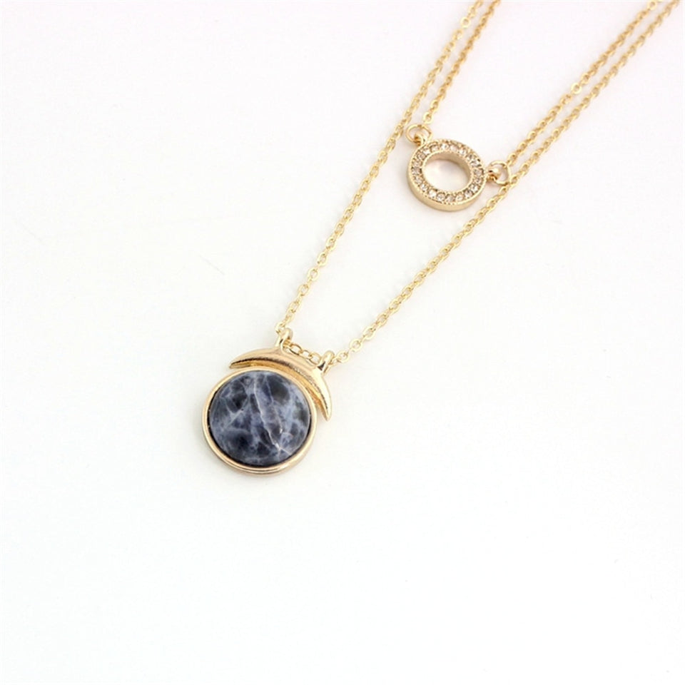 Inlaid Double Personality Sodalite Necklace