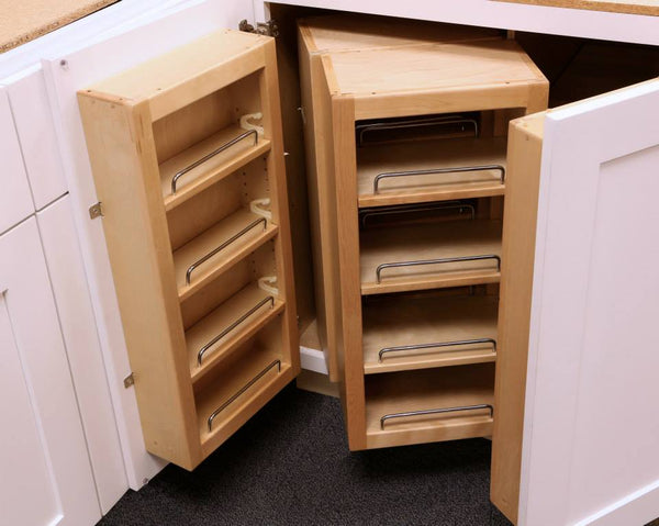 Kitchen space idea with innovative storage racks