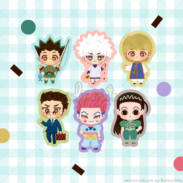 Hunter X Hunter Fanart Sticker Flakes