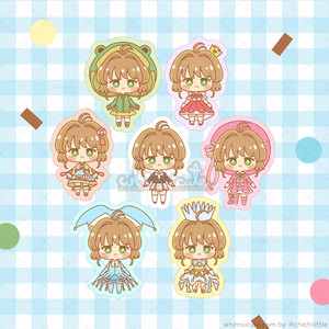 Cardcaptor Sakura Clear Card Arc Fanart Sticker Flakes