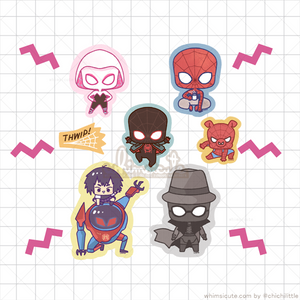 Spiderverse Fanart Sticker Flakes