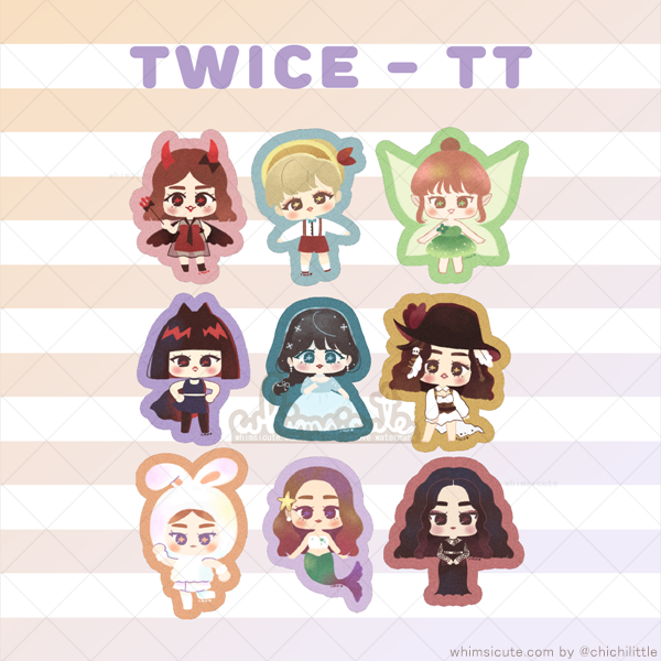 TWICE - TT Fanart Sticker Flakes