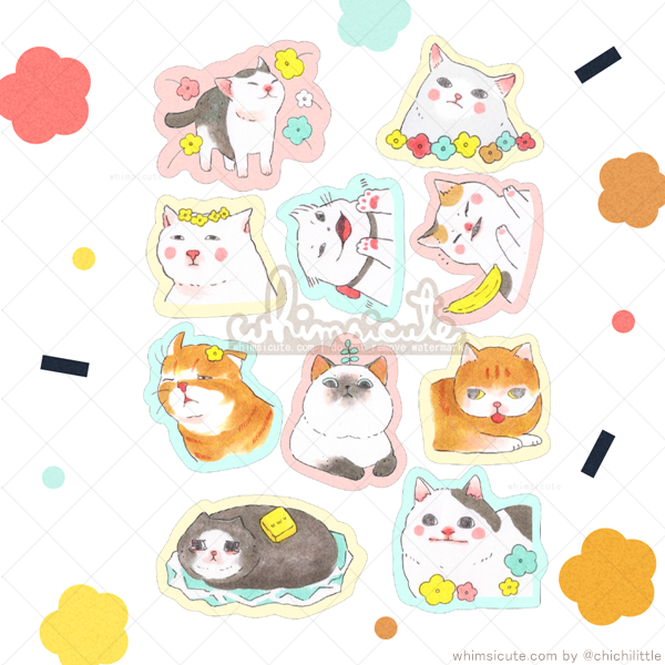 Silly Pussys 2 Sticker Flakes