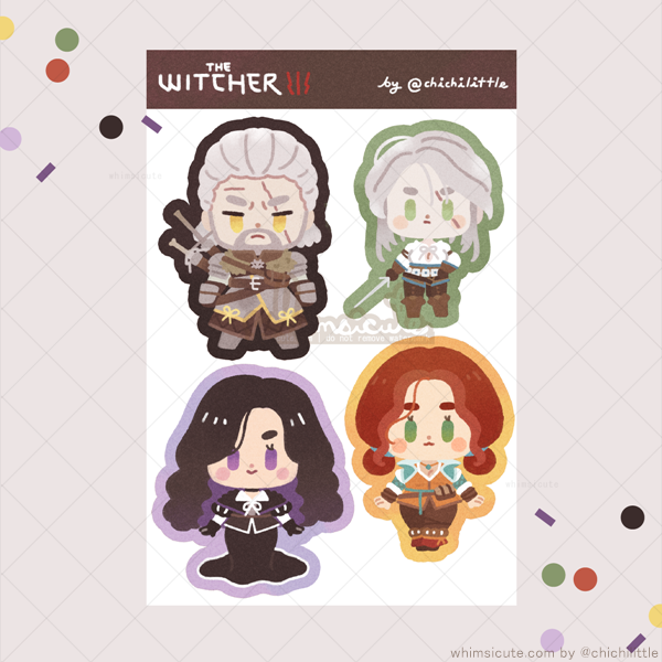 Witcher III Fanart Sticker Sheet