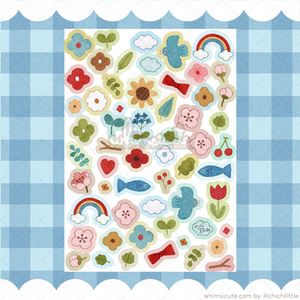 Cute Nature Shapes Sticker Sheet - Matte