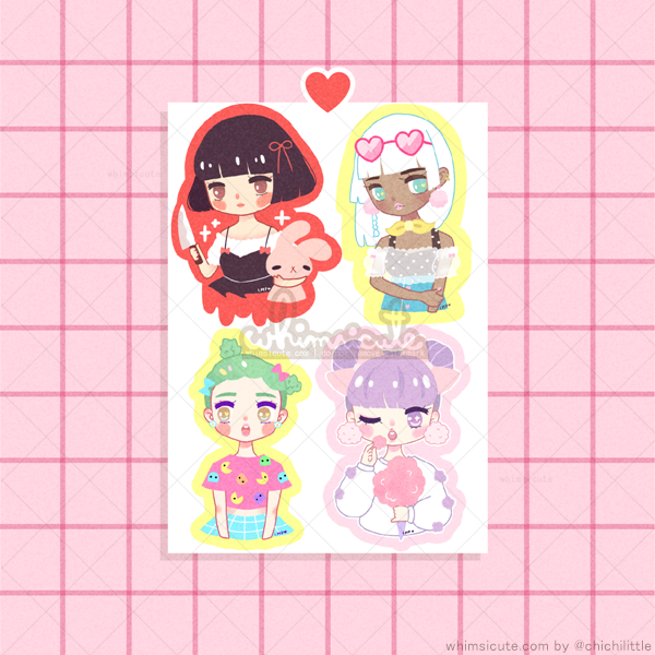 Girly Girls 1 Sticker Sheet