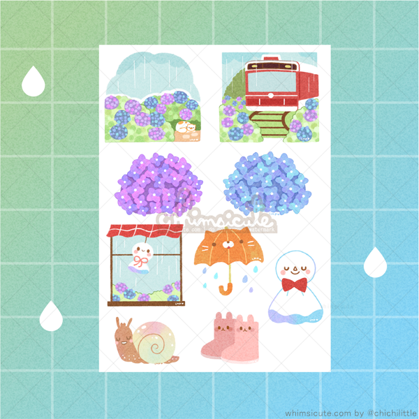 Rainy Season Sticker Sheet