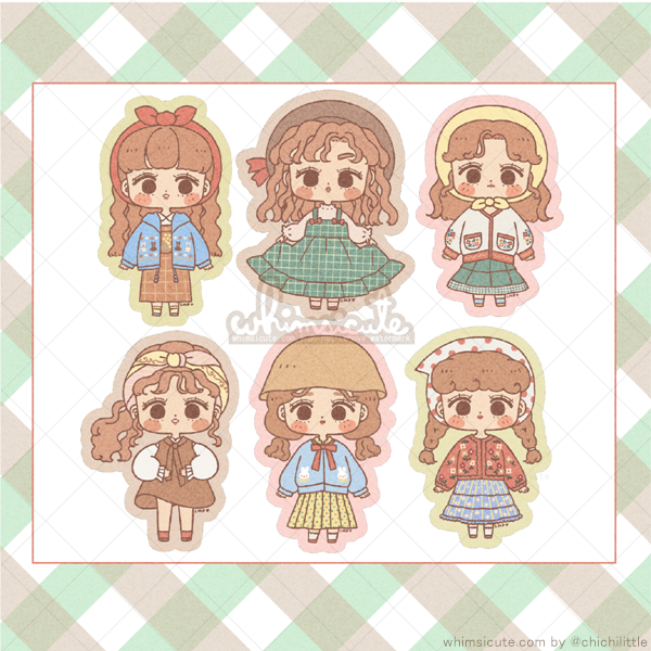 Vintage OOTDs Sticker Sheet