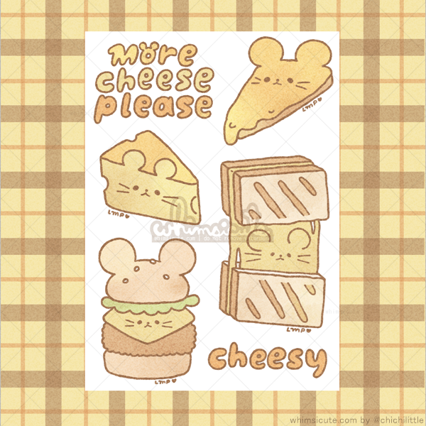 Cheese Sticker Sheet