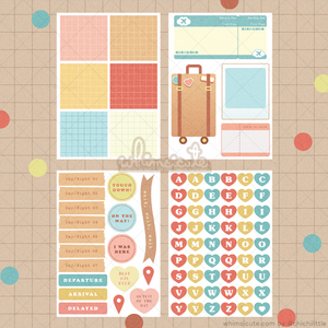 Travel Sticker Sheet SET - Matte