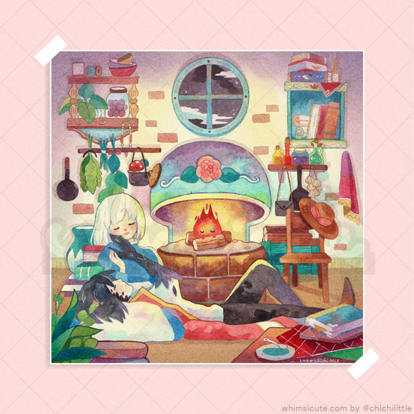 Howl's Moving Castle Fanart Print 6in x 6in