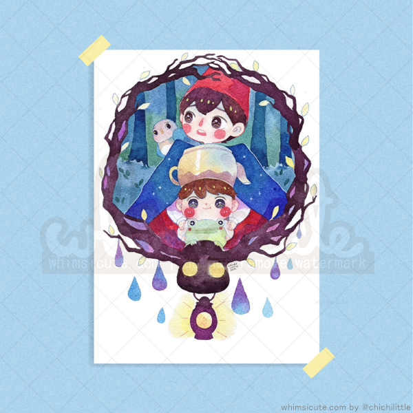 Over the Garden Wall Fanart Print 4in x 6in