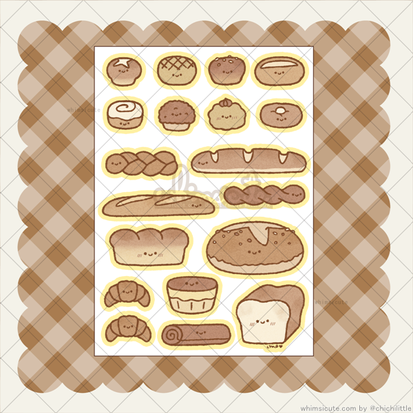 Tiny Breads Sticker Sheet