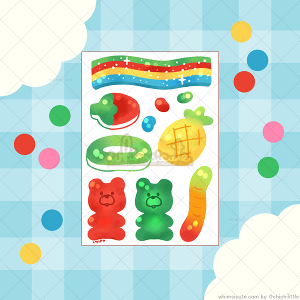 Gummies Sticker Sheet
