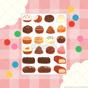 Oil Pastel Chocolates Sticker Sheet