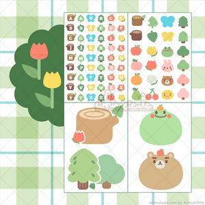 Forest Friends / ACNH Sticker Sheet SET - Matte