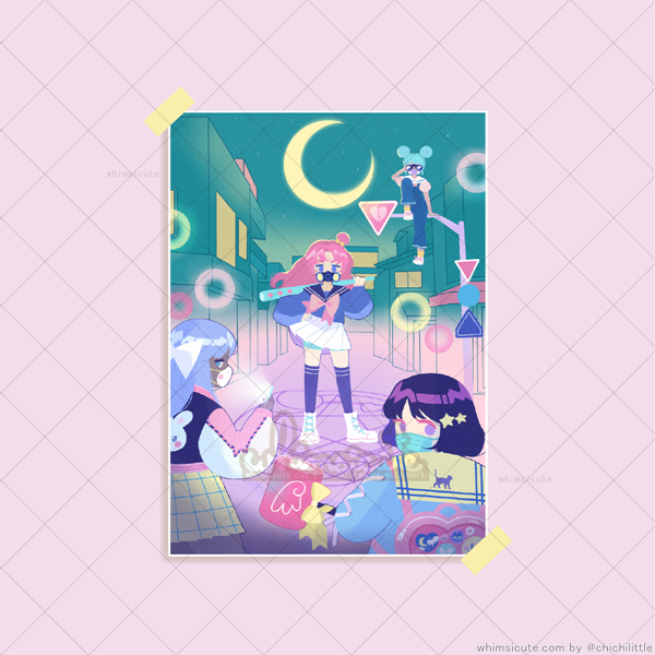 Magical Girl Power Print 5in x 7in