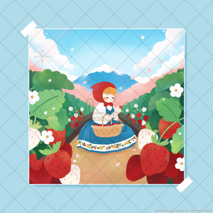 Strawberry Field Print 5in x 5in